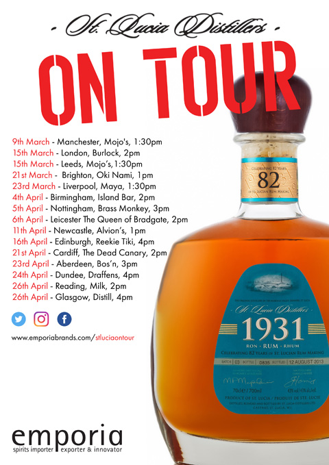 St Lucia Distillers UK Tour 2017